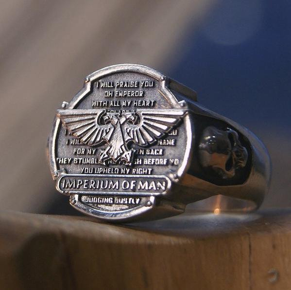 Imperium Of Man Aquila Signet Ring Warhammer 40000 Signet Rings