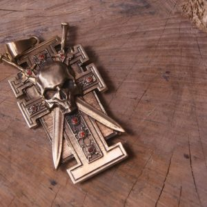 Insignia of Inquisitor - Special Powers Pendant With Garnets